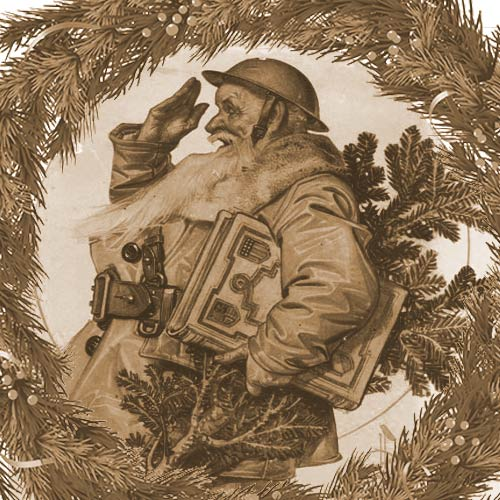 """Saluting Santa"" Magazine cover created by Joseph Christian Leyendecker"